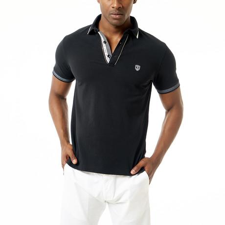 Rico Short-Sleeve Polo // Black (XS)