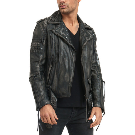Dwayne Leather Jacket // Black (Small)