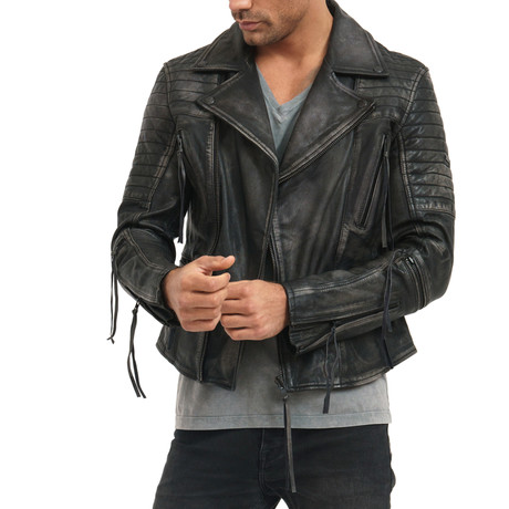 Bryan Leather Jacket // Black (L)