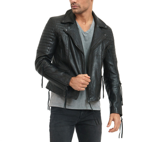Ethan Leather Jacket // Black (L)