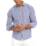 Stripe Weave Shirt // Navy (L)