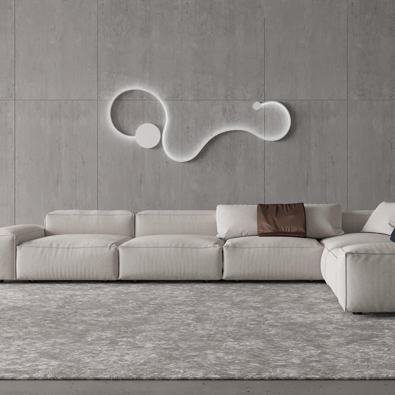 Contemporary light fixture design b white w cool white lighting