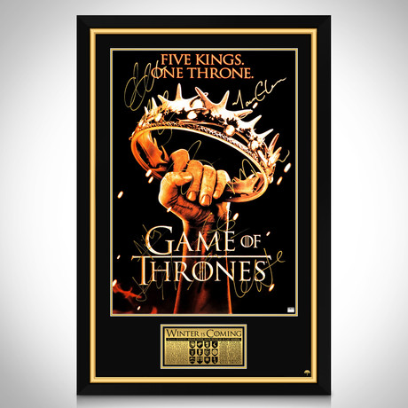 Game Of Thrones The Crown // Cast Hand-Signed Poster // Custom Frame