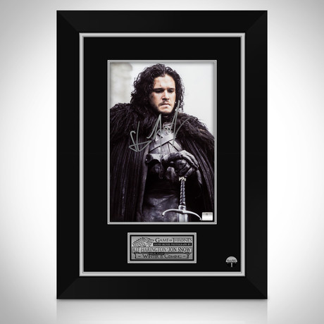 Game Of Thrones Jon Snow // Kit Harington Hand-Signed Portrait // Custom Frame