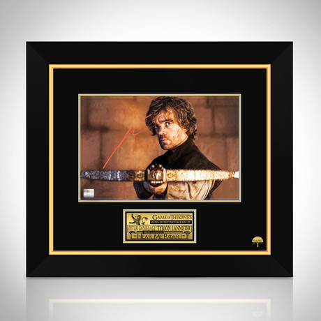 Game Of Thrones Tyrion Lannister // Peter Dinklage Hand-Signed Photo // Custom Frame