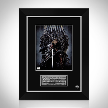 Game Of Thrones Ned Stark Throne // Sean Bean Hand-Signed Photo // Custom Frame