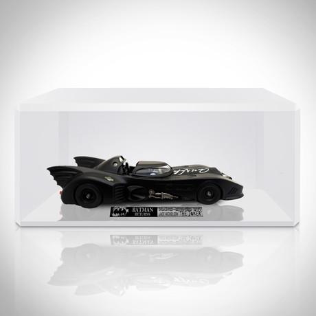 Batmobile // Jack Nicholson + Adam West Hand-Signed Die-Cast Car// Custom Display (Batmobile Returns Signed By Jack Nicholson)