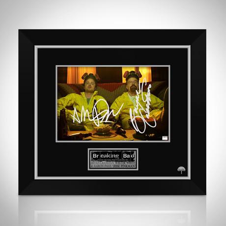 Breaking Bad // Walter White + Jesse Pinkman Hand-Signed Photo // Custom Frame