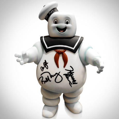 Ghostbusters Stay Puft// Dan Aykroyd + Bill Murray + Harold Ramis Hand-Signed // Statue Prop