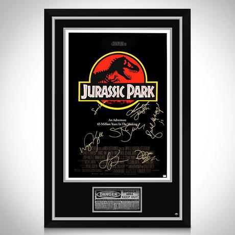 Jurassic Park // Cast Hand-Signed Poster // Custom Frame