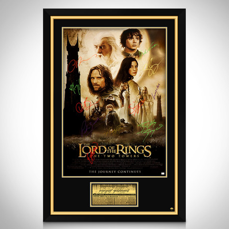 Lord Of The Rings // Cast Hand-Signed Poster // Custom Frame