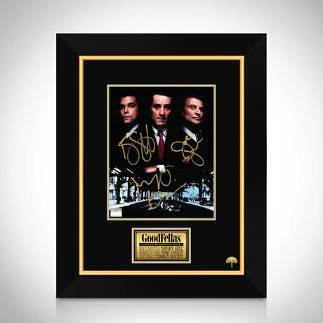 Goodfellas // Ray Liotta + Robert De Niro + Joe Pesci Hand-Signed Photo // Custom Frame