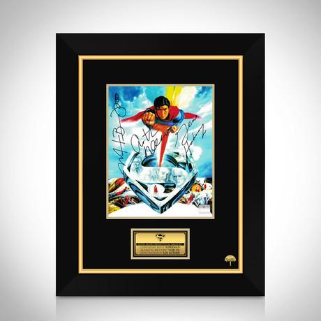 Superman 1978 // Gene Hackman + Marlon Brando + Christopher Reeve Hand-Signed Photo // Custom Frame