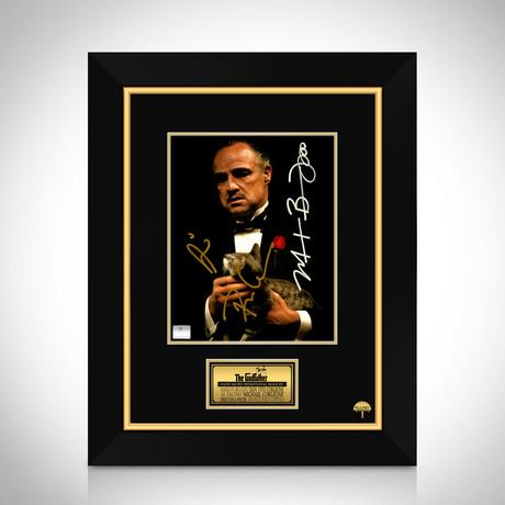 Godfather // Marlon Brando + Al Pacino + Francis Ford Coppola Hand-Signed Photo // Custom Frame