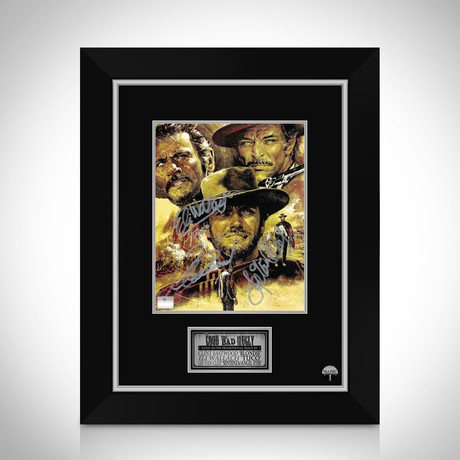 Good The Bad And The Ugly // Clint Eastwood + Eli Wallach + Lee Van Cleef Hand-Signed Photo // Custom Frame