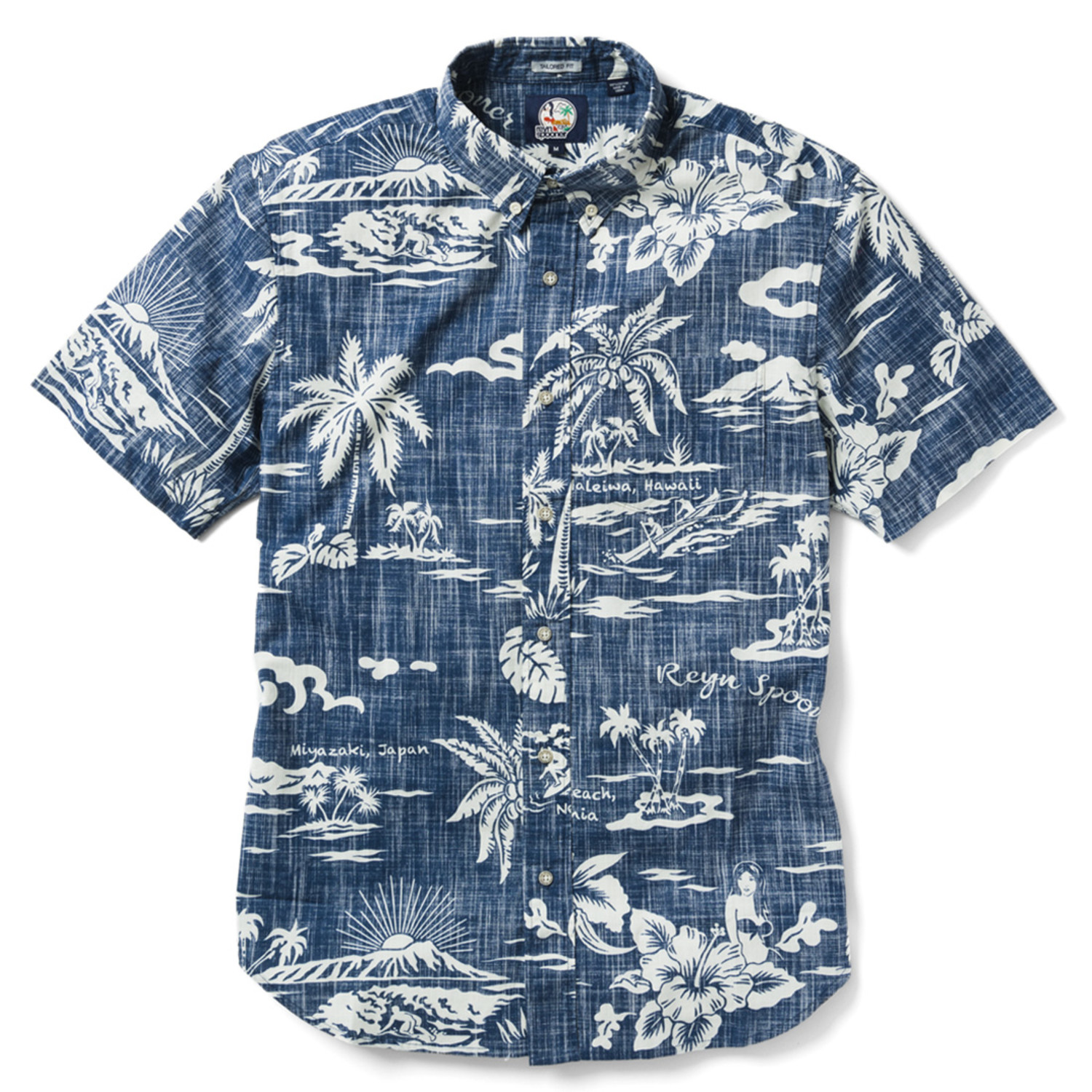 d53d5e89 My Private Isle Tailored Shirt // Ink (XS) - Reyn Spooner - Touch of ...