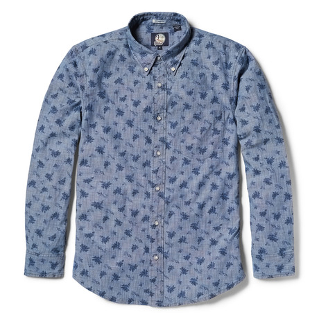 Floral Long Sleeve Chambray // Chambray Blue (XS)