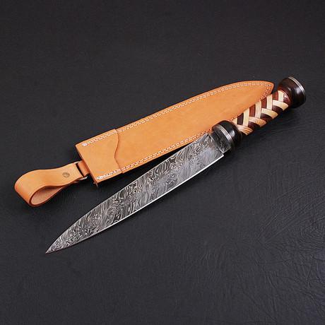 Damascus Celtic Dagger