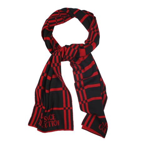 Versace // Unisex Scarf // Red + Black