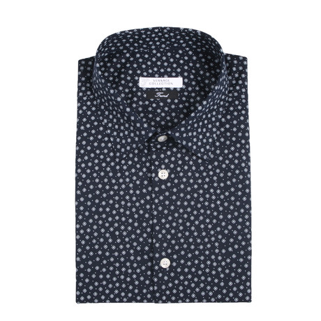Dress Shirt // Navy + White (US: 38R)
