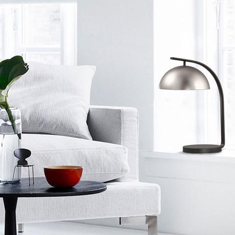 Domus Table Lamp // Satin Nickel