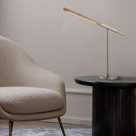 Port Table Lamp // Clear Oak