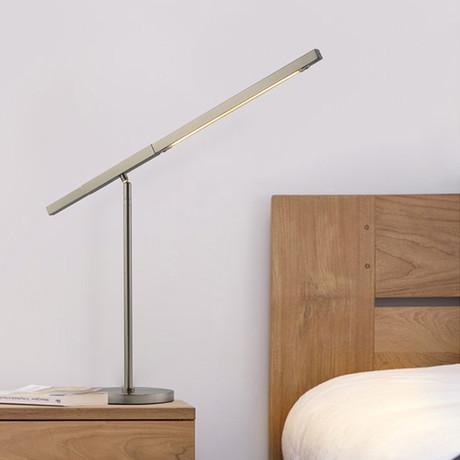Port Table Lamp // Satin Nickel