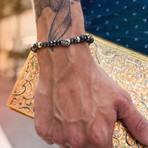 Duggan Bracelet // Silver + Black (Medium)