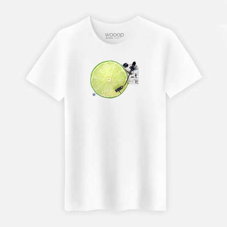 Lemon DJ T-Shirt // White (Small)