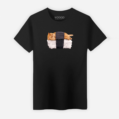 Sushi Cat T-Shirt // Black (L)