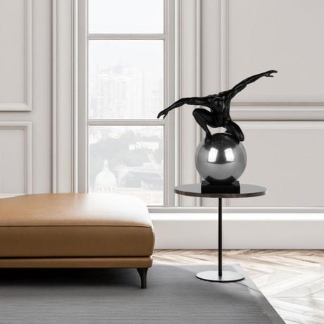 Equilibrium + Control // Matt Black + Chrome Sculpture