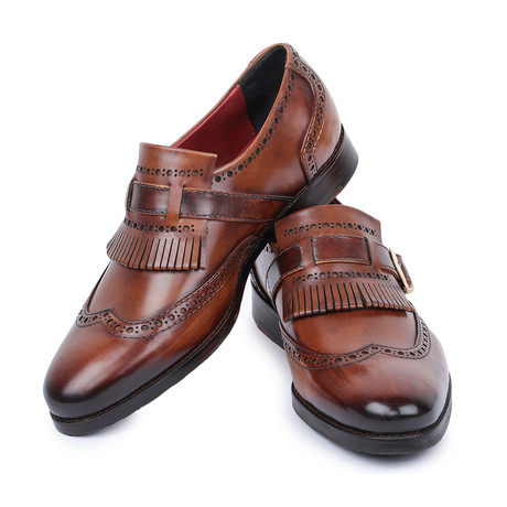 Wingtip Brogue Kiltie Loafers // Brown (US: 8)