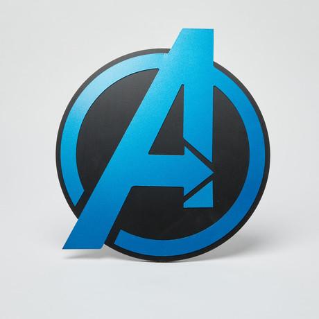 Avengers Wall Emblem // Blue