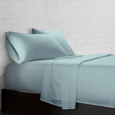 Super Soft Triple Brushed Allergy Free Microfiber 4-Piece Sheet Set // Aqua (Twin)