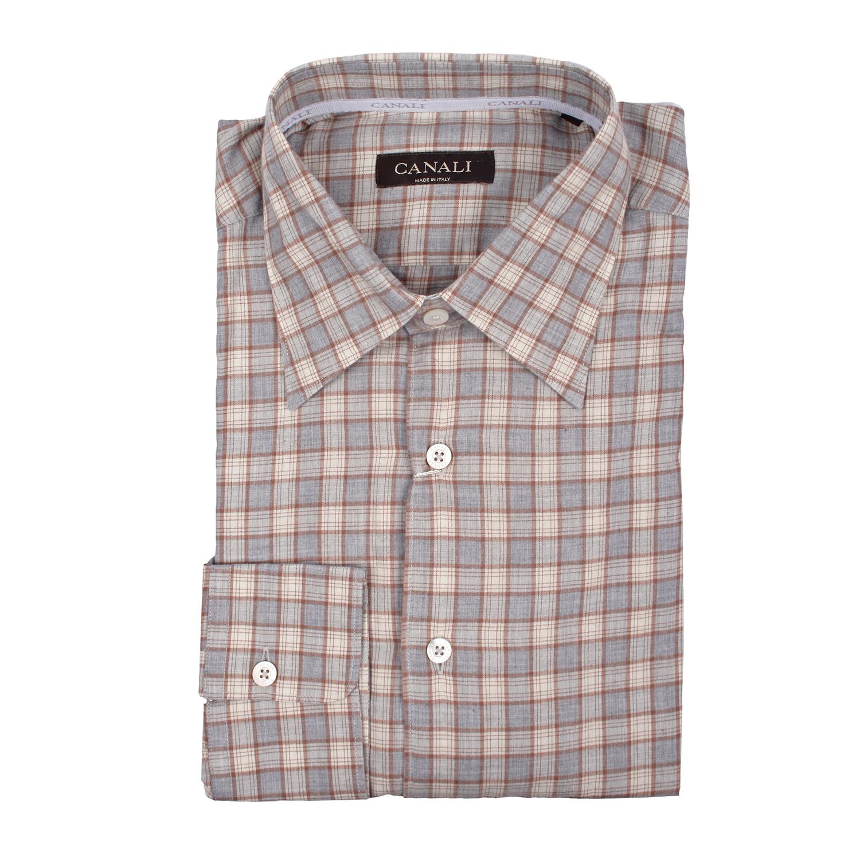 fd75a2de375 Modern Fit Check Dress Shirt    Beige (XS) - Canali - Touch of Modern