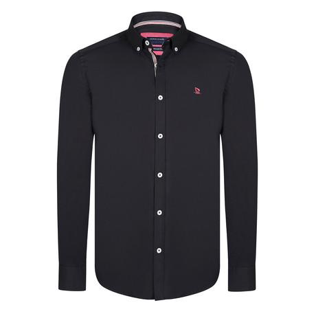 Maxwell Shirt // Black + Red (XS)
