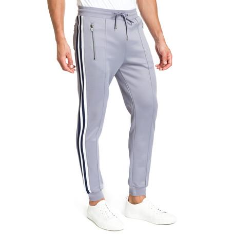 Side-Stripe Pants // Light Powder Blue + Gray (S)