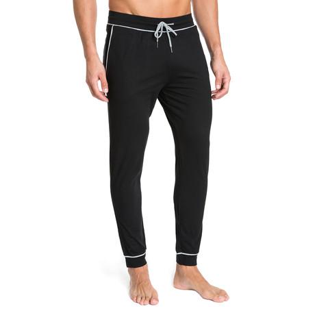 Lounge Pant + Contrast Trim // Black (S)