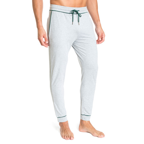 Lounge Pant + Contrast Trim // Light Gray (S)