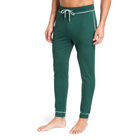 Lounge Pant + Contrast Trim // Green (S)