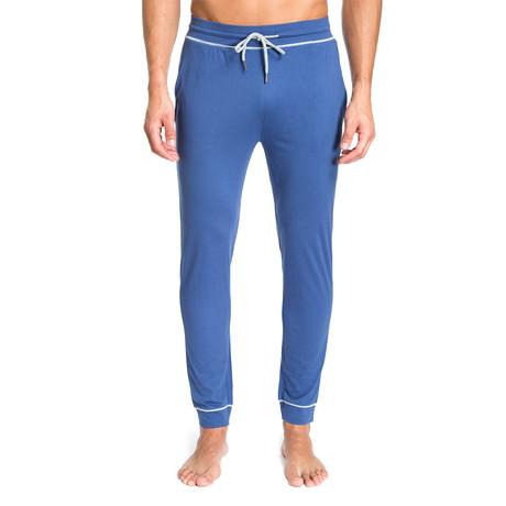 Lounge Pant + Contrast Trim // Sky Blue (S)