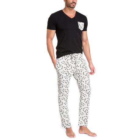 Birds Pajama Set // Black + White (S)