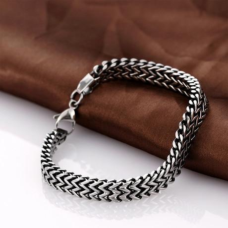 Stainless Steel Multi-Snake Bracelet // Silver