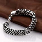 Stainless Steel Multi-Layering Snake Bracelet // Silver