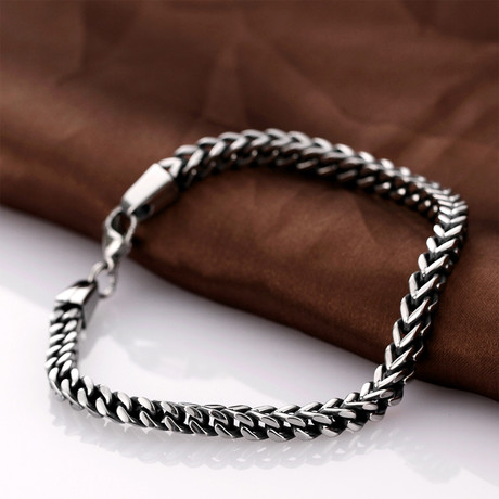 Stainless Steel Cobra Snake Wheat Chain Link Bracelet