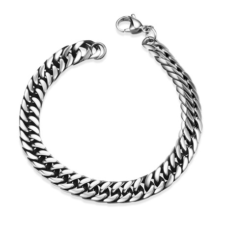 Stainless Steel New York Curb Chain Bracelet