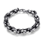 Stainless Steel Thick Bicycle Chain Link Bracelet