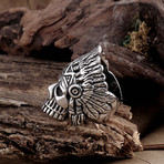 Stainless Steel Skull Chief Ring (10)