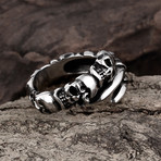 Skull + Claw Wrap Ring (11)