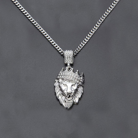 King of the Jungle Necklace // White Gold